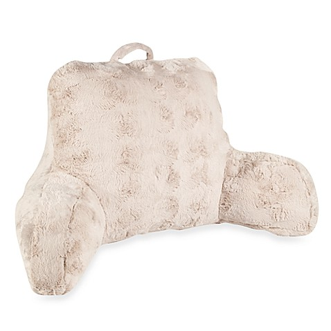Crystal Fur Backrest in Taupe