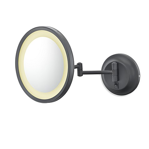 Kimball & Young Single-Sided 5X LED Wall Mirror with Bronze Finish