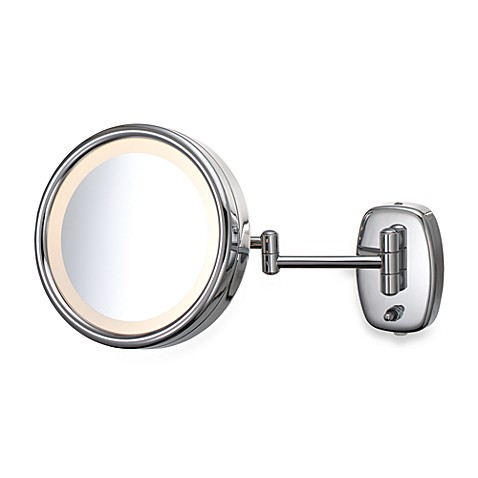 Kimball & Young Plug-In Single-Sided Lighted 5X Wall Mirror with Chrome Finish