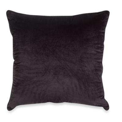 Plush Floor Cushion in Black