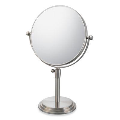 Mirror Image™ Classic Adjustable 5X/1X Vanity Mirror with Brushed Nickel Finish