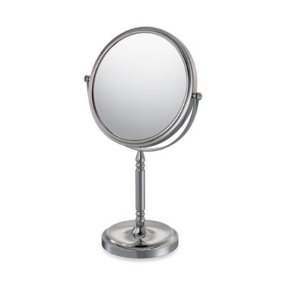Mirror Image™ Recessed Base Vanity Mirror with 5X/1X Magnification in Chrome