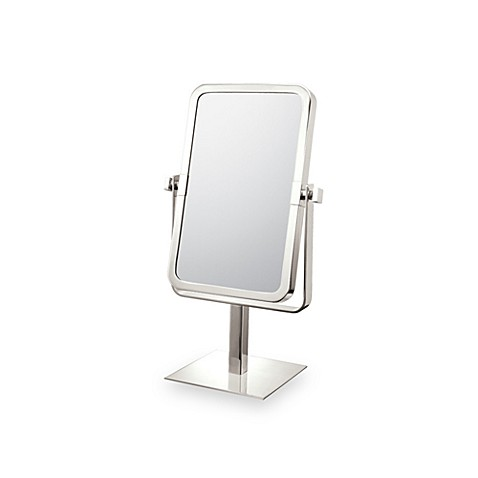 Mirror Image™ Rectangular 3X/1X Vanity Mirror with Brushed Nickel Finish