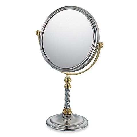 Mirror Image™ Swirl Stem 7X/1X Vanity Mirror with Chrome/Gold Finish