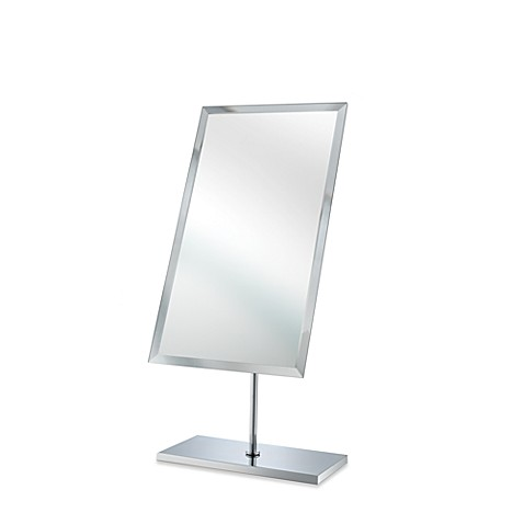 Mirror Image™ Minimalist Beveled Dresser Mirror with Brushed Nickel Finish