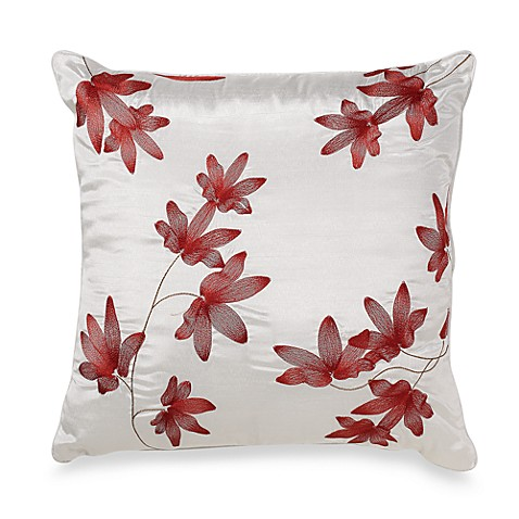 Mikasa® Pure Red 18-Inch Square Accent Toss Pillow