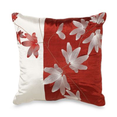 Mikasa® Pure Red 18-Inch Square Toss Pillow