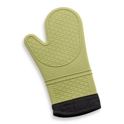 Silicone Quilted Oven Mitt in Sage