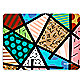 Britto™ Brown Patchwork Placemat in Brown