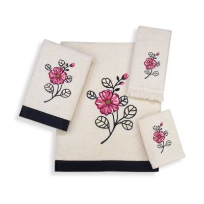 Avanti Tina Washcloth in Ivory