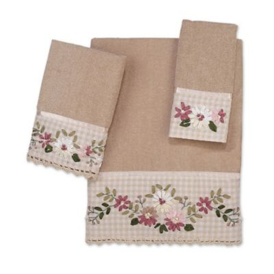 Avanti Victoria Washcloth in Linen