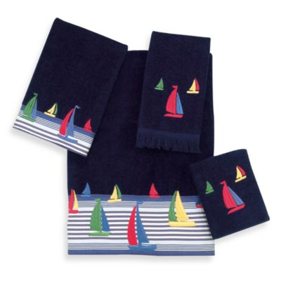 Avanti Regatta Fingertip Towel in Indigo