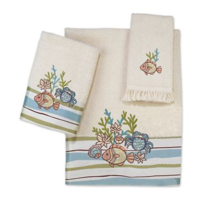 Avanti Cancun Ivory Washcloth