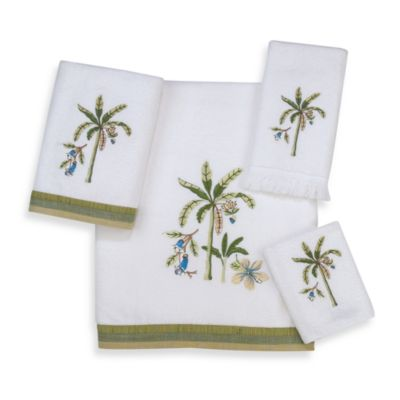 Avanti Catesby White Washcloth