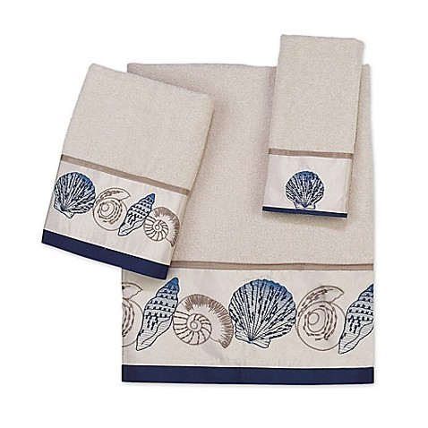 Avanti Hampton Shells Hand Towel in Beige