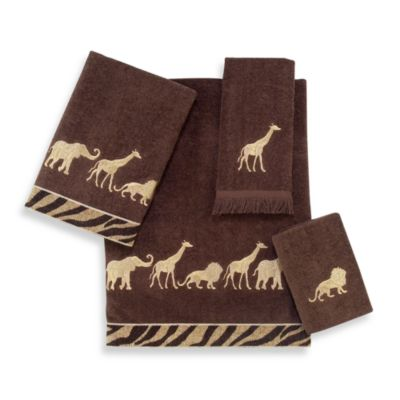 Avanti Animal Parade Mocha Hand Towel