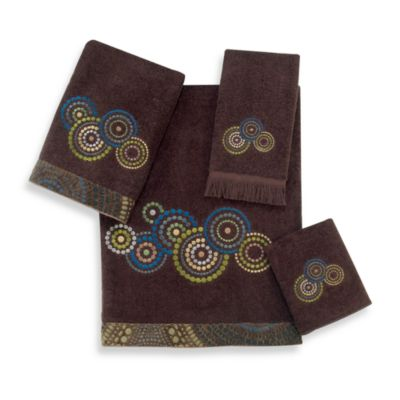 Avanti Mosaic Circles Java Washcloth