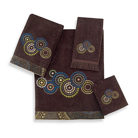 Avanti Mosaic Circles Washcloth in Java