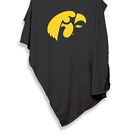 University of Iowa 54-Inch x 84-Inch Sweatshirt Throw Blanket