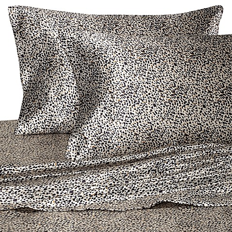 Hotel Satin Luxury Twin Sheet Set - Leopard