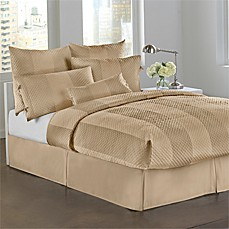 DKNY Harmony Sand Quilted Bed Skirt