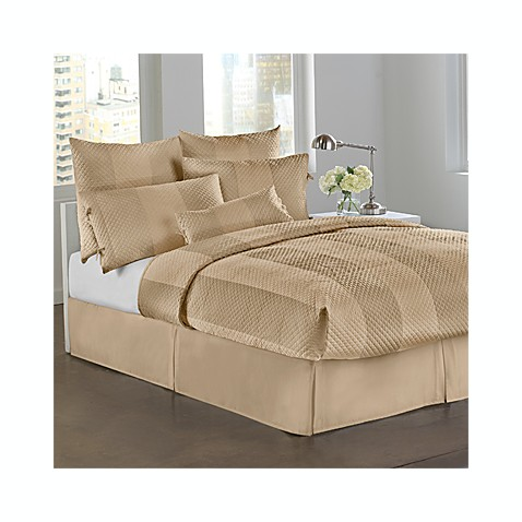 DKNY Harmony Quilted Full Bed Skirt in Sand
