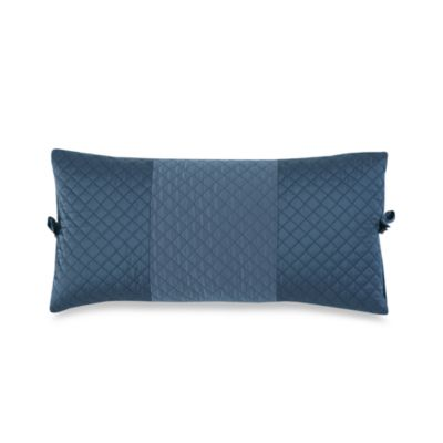 DKNY Harmony Quilted Breakfast Pillow - Indigo