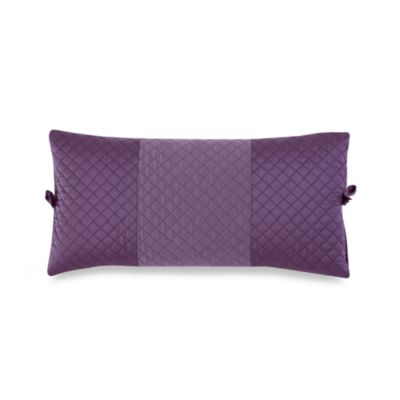 DKNY Harmony Quilted Breakfast Pillow in Plum