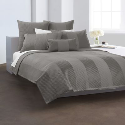 DKNY Harmony Quilted European Sham in Platinum