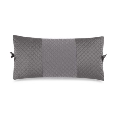 DKNY Harmony Quilted Breakfast Pillow in Platinum