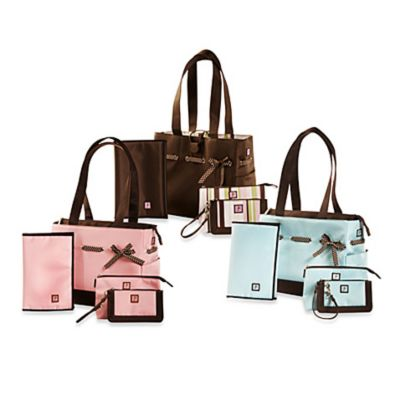 JP Lizzy Classic Tote Set in Strawberry Truffle