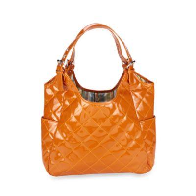 JP Lizzy Sherbet Satchel in Orange Patent