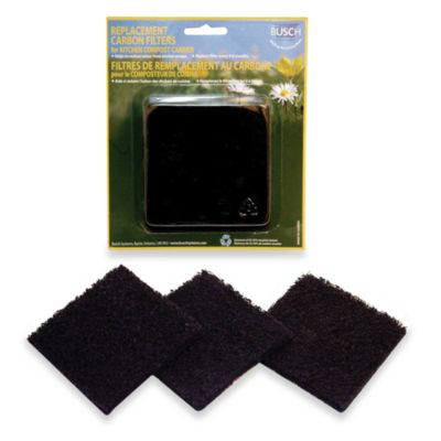 Green Kitchen Compost Pail Replacement Filters (Set of 3)