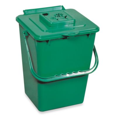 Green Kitchen Compost Pail with Filter