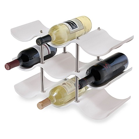 Oggi™ 3-Tier Wine Bottle Rack in White