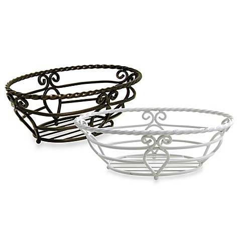 Twist Drop Oval Bread Basket