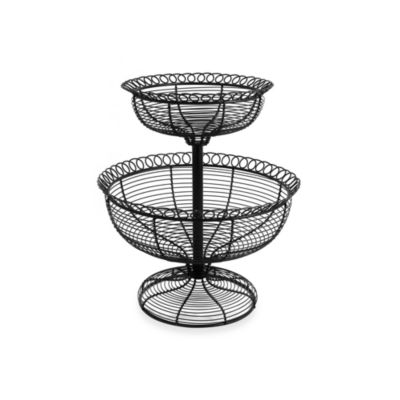 French Loop 2-Tier Basket