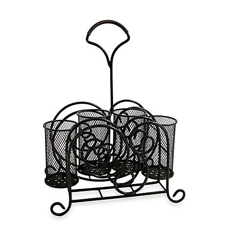 Buy tendril picnic caddy from bed bath beyond - Wrought iron silverware ...