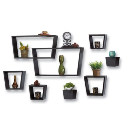 8-Piece Angle Wall Cube Set in Black