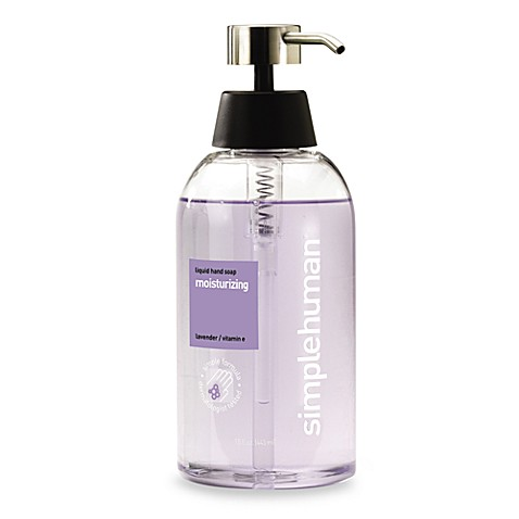 simplehuman® Liquid Hand Soap 15-Ounce Dispenser in Moisturizing