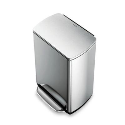 buy 13 gallon step trash cans from bed bath beyond. Black Bedroom Furniture Sets. Home Design Ideas