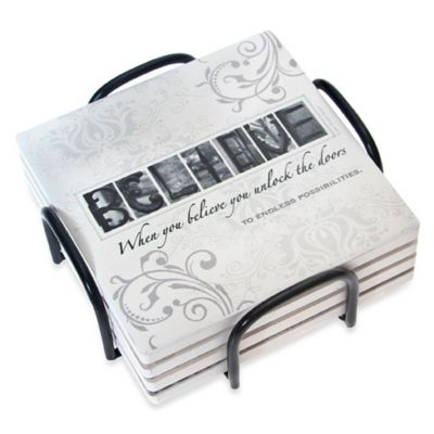 Thirstystone® Occasions Coaster Gift Set - Believe Assorted Set of 4