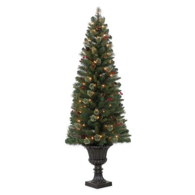 5.5-Foot Pre-Lit Tree with Urn