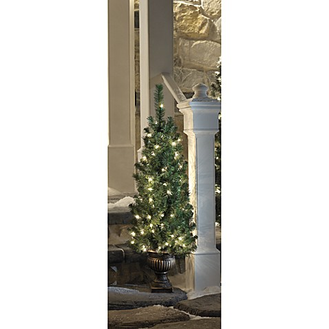 4-Foot Pre-Lit Tree with Urn