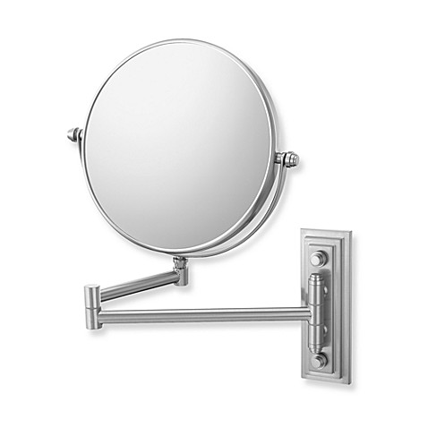 Mirror Image™ 208 Series Classic Double Arm 5X/1X Wall Mirror with Brushed Nickel Finish