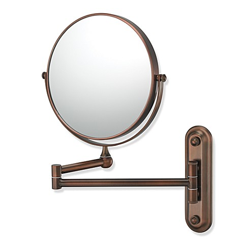 Mirror Image™ 206 Series Double Arm 4X/1X Wall Mirror with Diablo Bronze Finish