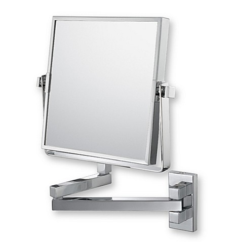 Mirror Image™ Square Double Arm 3X/1X Wall Mirror with Chrome Finish