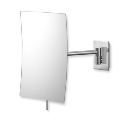 Mirror Image™ Minimalist Rectangular 3X Wall Mirror with Brushed Nickel Finish