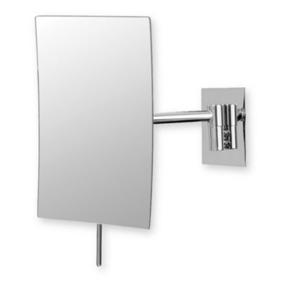 Mirror Image™ Minimalist Rectangular 3X Wall Mirror with Chrome Finish