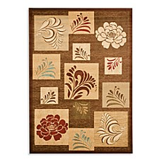 Safavieh Lyndhurst Flower and Leaf Motif Rug in Brown